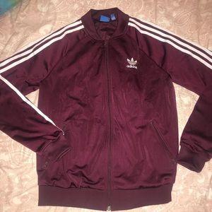 Women's Adidas jacket , maroon